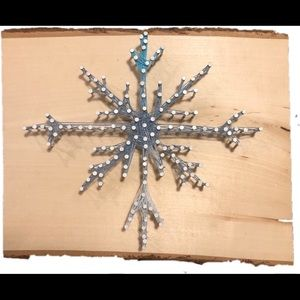 Other - Snowflake string art on bass wood 10x12